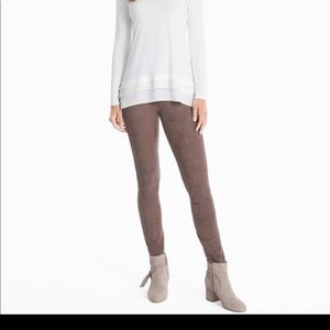 White House black market suede front leggings NWT